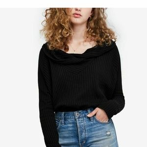 Free People W's Small Cowl Neck Thermal Knit Top